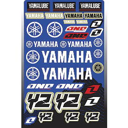 2013 One Industries Yamaha YZ Decal Sheet - 2011 One Industries Pre-Printed Backgrounds - White Yamaha