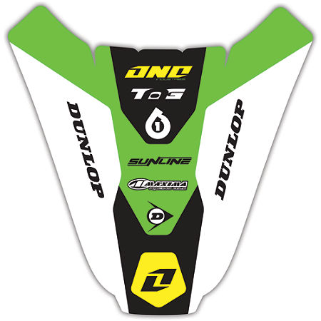 2012 One Industries Rear Fender Decal - Kawasaki - Main