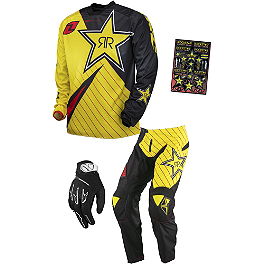 2014 One Industries Atom Combo - Rockstar - 2014 One Industries Atom Pants - Rockstar