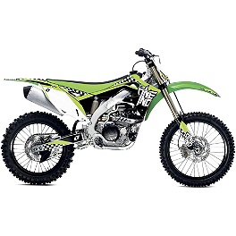 2013 One Industries Checkers Graphic - Kawasaki - Factory Effex EVO 9 Graphics - Kawasaki