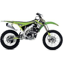2013 One Industries Checkers Graphic - Kawasaki - 2009 Kawasaki KX85 2013 Factory Effex Rockstar Graphics - Kawasaki