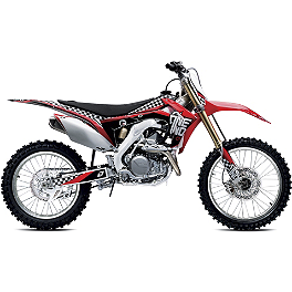2013 One Industries Checkers Graphic Kit - Honda - 2009 Honda CRF450R Alias Geico Team Graphics Kit - Honda