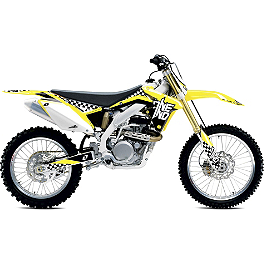 2013 One Industries Checkers Graphic Kit - Suzuki - 2013 One Industries Rockstar Energy MotoSport Team Complete Graphic Kit - Suzuki