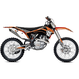 2013 One Industries Checkers Graphic Kit - KTM - KTM OEM Factory Plastic Kit - White