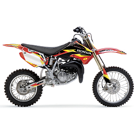 2013 One Industries Delta Graphic Kit - Honda - 2013 Factory Effex Monster Energy Graphics - Honda