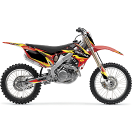 2013 One Industries Delta Graphic Kit - Honda - 2011 Honda CRF450R 2013 One Industries Rat Rod Cosmetic Kit - Honda
