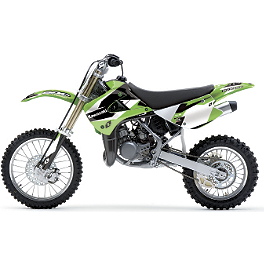 2013 One Industries Delta Graphic Kit - Kawasaki - 2009 Kawasaki KX85 2013 Factory Effex Rockstar Graphics - Kawasaki
