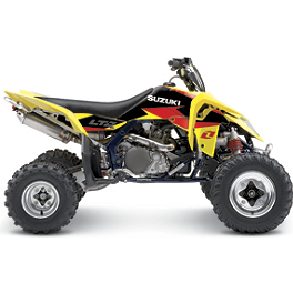 2013 One Industries Delta ATV Graphic Kit - Suzuki - Suzuki Genuine Accessories Seat Cover - Tribal Yellow