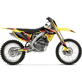 2013 One Industries Delta Graphic Kit - Suzuki - 2010 Suzuki RMZ250 2013 Factory Effex EVO 10 Graphics - Suzuki