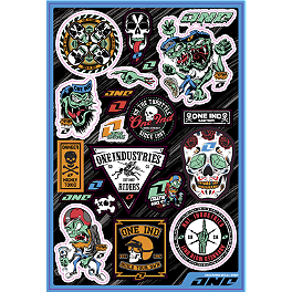 One Industries Creature Decal Sheet - Metal Mulisha 6 Piece Sticker Variety Kit