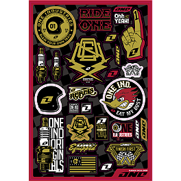 One Industries Garage Decal Sheet - Factory Effex Metal Mulisha Decal Sheet Kit 2