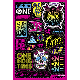 One Industries Girl's Decal Sheet - One Industries Garage Decal Sheet