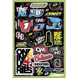 2013 One Industries Logo Decal Sheet - 2013 One Industries Geico Powersports Decal Sheet - Honda
