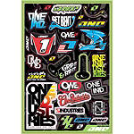 2013 One Industries Logo Decal Sheet - Utility ATV Body Parts and Accessories