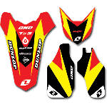 2013 One Industries Delta Graphic Trim Kit - Honda - Dirt Bike Trim Decals