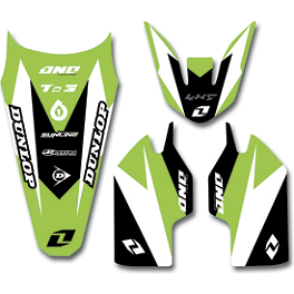 2013 One Industries Delta Graphic Trim Kit - Kawasaki - 2012 One Industries Rear Fender Decal - Kawasaki
