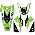 2013 One Industries Delta Graphic Trim Kit - Kawasaki - Kawasaki KX100 Dirt Bike Graphics