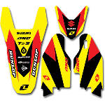 2013 One Industries Delta Graphic Trim Kit - Suzuki - Suzuki RM125 Dirt Bike Graphics