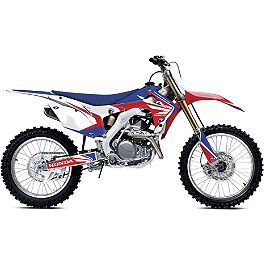 2013 One Industries Flight Graphic Kit - Honda - 2009 Honda CRF450R Alias Geico Team Graphics Kit - Honda