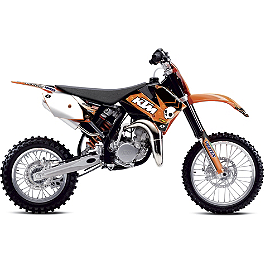 2013 One Industries Orange Brigade Graphic - KTM - 2010 KTM 85SX 2012 N-Style Factory Team Graphics Kit - KTM