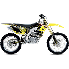 2013 One Industries Rockstar Graphic Kit - Suzuki - 2012 Suzuki RMZ450 2013 Factory Effex Rockstar Complete Graphics Kit - Suzuki
