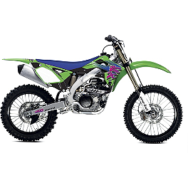 2013 One Industries Throwback Graphic Kit - Kawasaki - 2011 Kawasaki KX250F IMS Gas Tank - 2.9 Gallons Natural