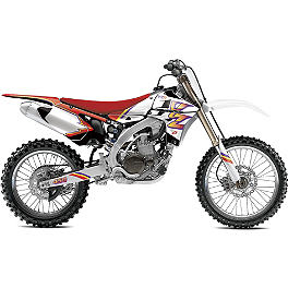 2013 One Industries Throwback Graphic Kit - Yamaha - GYTR One Industries Graphic Kit - Red / Black / White