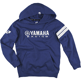 One Industries Youth Yamaha Stripes Hooded Fleece Jacket - Akrapovic Evolution Oval Full System Exhaust - Titanium