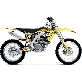 2014 One Industries FMF Graphic Kit - Suzuki - 2011 Suzuki RMZ450 2013 One Industries Rockstar Energy Graphic Kit - Suzuki