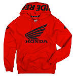 One Industries Honda Ride Red Hoody - One Industries Cruiser Mens Sweatshirt and Hoodies