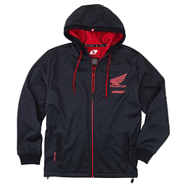 One Industries Honda Slick Zip Hoody - One Industries Youth Icon FZ Full Zip Fleece Hoody