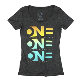 One Industries Women's Decline Scoop Neck T-Shirt - AXO Cube T-Shirt