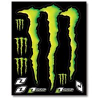 ONE INDUSTRIES LARGE MONSTER ENERGY DECAL SHEET