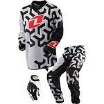 2013 One Industries Youth Carbon Combo - Labyrinth -  Dirt Bike Pants, Jersey, Glove Combos