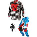 2014 One Industries Youth Atom Combo - Chex - Utility ATV Pants, Jersey, Glove Combos