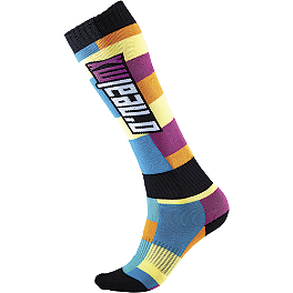 2014 O'Neal Women's Pro MX Socks - 2011 Fly Racing Women's Kinetic Gloves