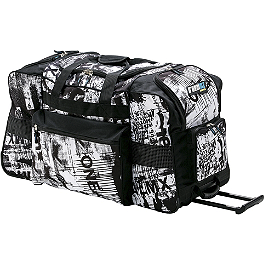 O'Neal Track Wheelie Bag - Toxic - 2013 MSR Large Rolling Gear Bag - Metal Mulisha