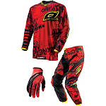 2013 O'Neal Element Combo - Toxic - Dirt Bike Pants, Jersey, Glove Combos