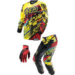 2014 O'Neal Youth Element Combo - Acid - O'Neal Utility ATV Pants, Jersey, Glove Combos