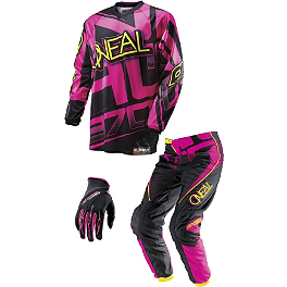 2014 O'Neal Girl's Element Combo - 2014 Fox Girl's R3 Chest Protector