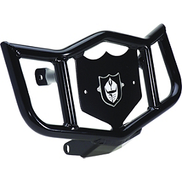 Pro Armor Dominator Front Bumper - Black - 2004 Kawasaki KFX400 Rock Pro Series Race Nerf Bars - Black