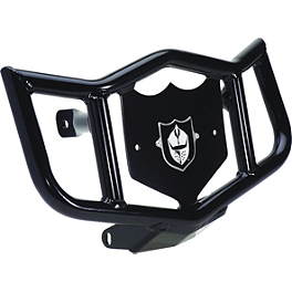 Pro Armor Dominator Front Bumper - Black - Blingstar Iron Cross Front Bumper - Polished Aluminum
