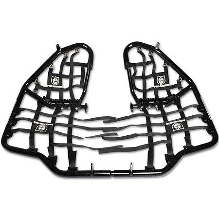 Pro Armor Race Team Nerf Bars with Heel Guard Nets - Black - Main