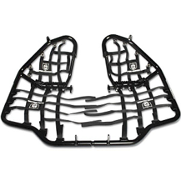 Pro Armor Race Team Nerf Bars with Heel Guard Nets - Black - Pro Armor Race Team Works Front Bumper - Black