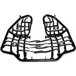 Pro Armor Race Team Nerf Bars with Heel Guard Nets - Black - Dirt Bike Nerf Bars