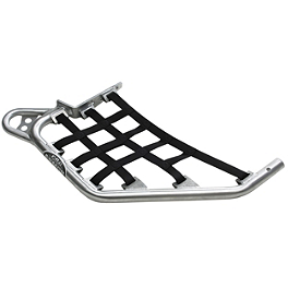 Pro Armor Sport Series Nerf Bars - 2008 Honda TRX450R (KICK START) Pro Armor Revolution Nerf Bars With Heel Plates - Silver
