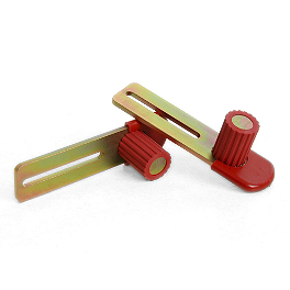 Pit Bull Forward Handle Rear Stand Plates - Teknic Speedstar Knee Slider - Red