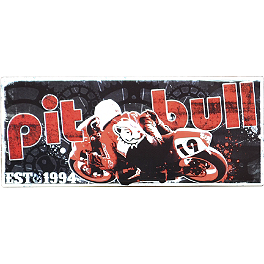 Pit Bull Metal Sign - MC Enterprises Parking Sign - Motorcycle