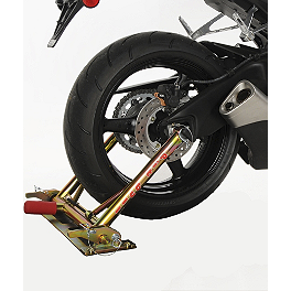 Pit Bull Trailer Restraint System - 2010 Triumph Daytona 675 Pit Bull Hybrid Headlift Stand With Pin