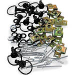 Pro-Bolt D-Ring Quick Release Fasteners With Rivets - Pro-Bolt Motorcycle Hardware
